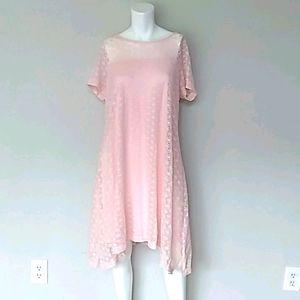 Lane Bryant Blush Lace Swing Dress. Sz 14/16